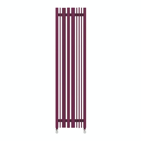 Sherwood purple violet vertical radiator 1300 x 330