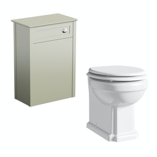 Camberley Sage back to wall toilet unit and Winchester toilet offer.  Clearance