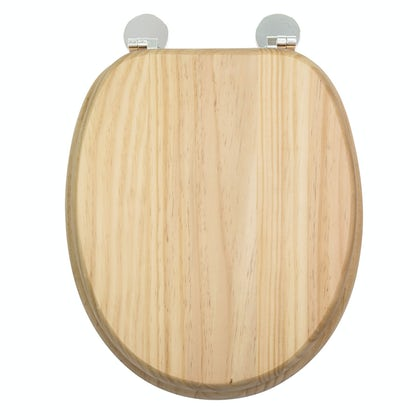 Croydex Davos blonded pine flexi fix toilet seat