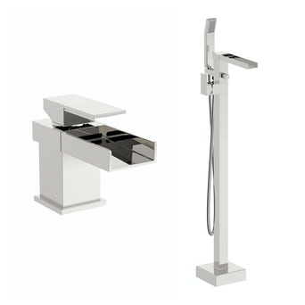 Metro Basin Mixer and Bath Shower Standpipe Pack