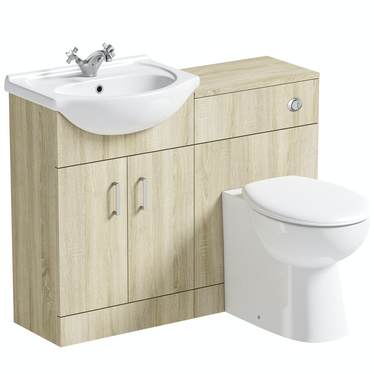Orchard Eden oak 1040 combination with Clarity back to wall toilet