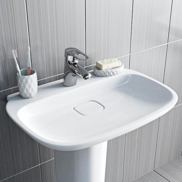 Orchard Dart loop basin mixer tap
