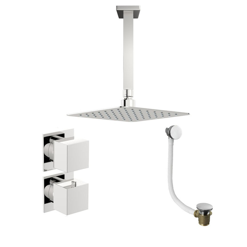 Mode Cooper thermostatic shower valve with ceiling shower bath set