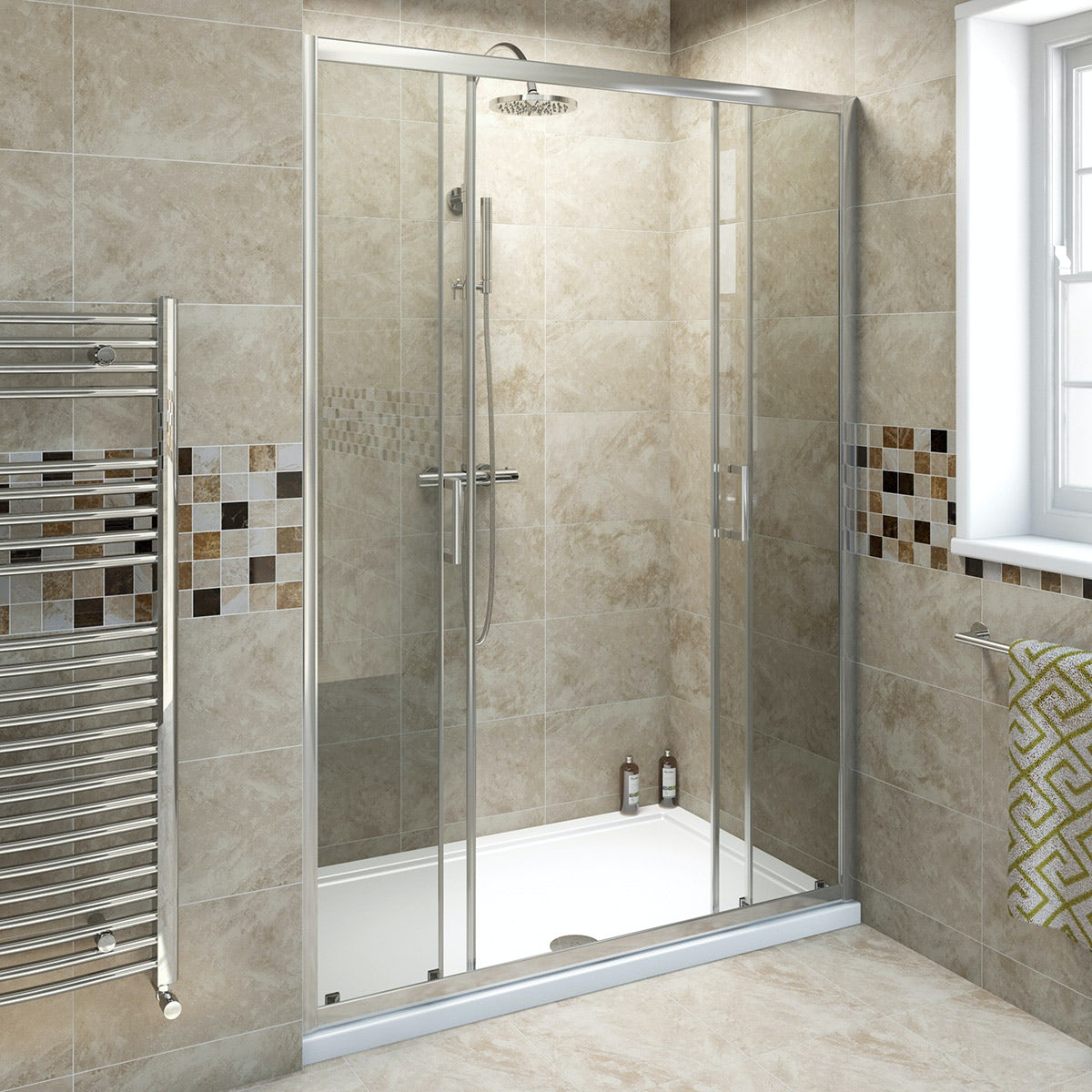 6mm double sliding shower door 1400mm for 1400 sliding shower door