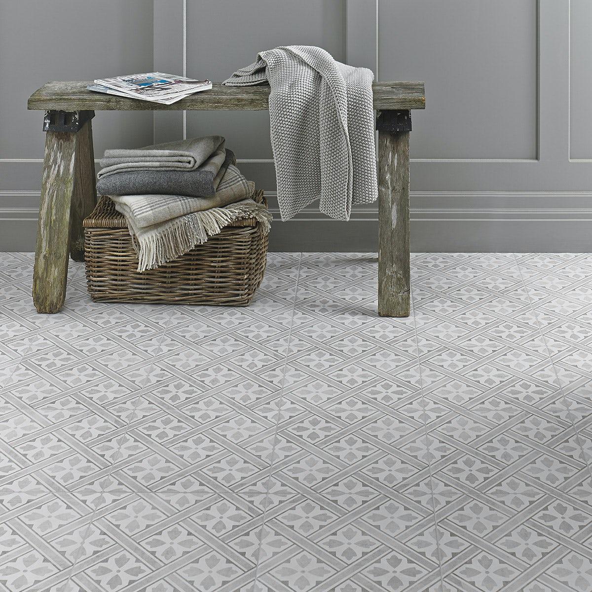 Laura ashley bathroom tiles - New Laura Ashley Mr Jones Dove Grey Tile 331mm X 331mm