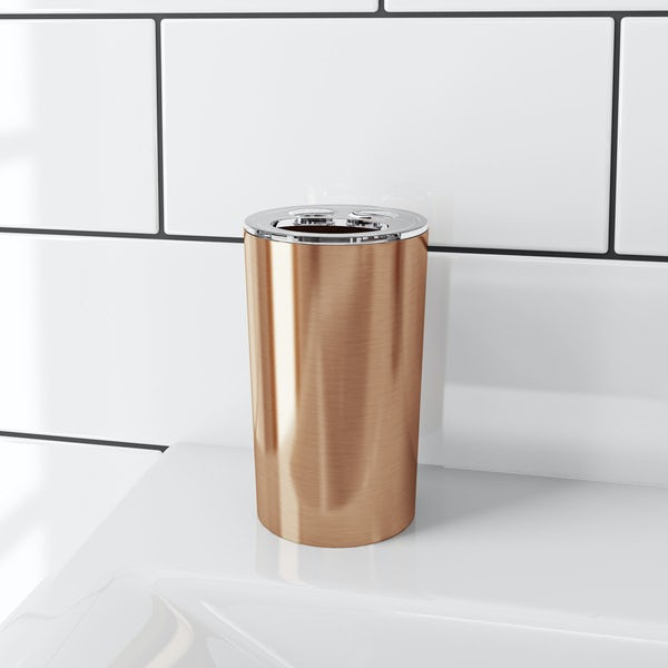 Glaze copper toothbrush holder