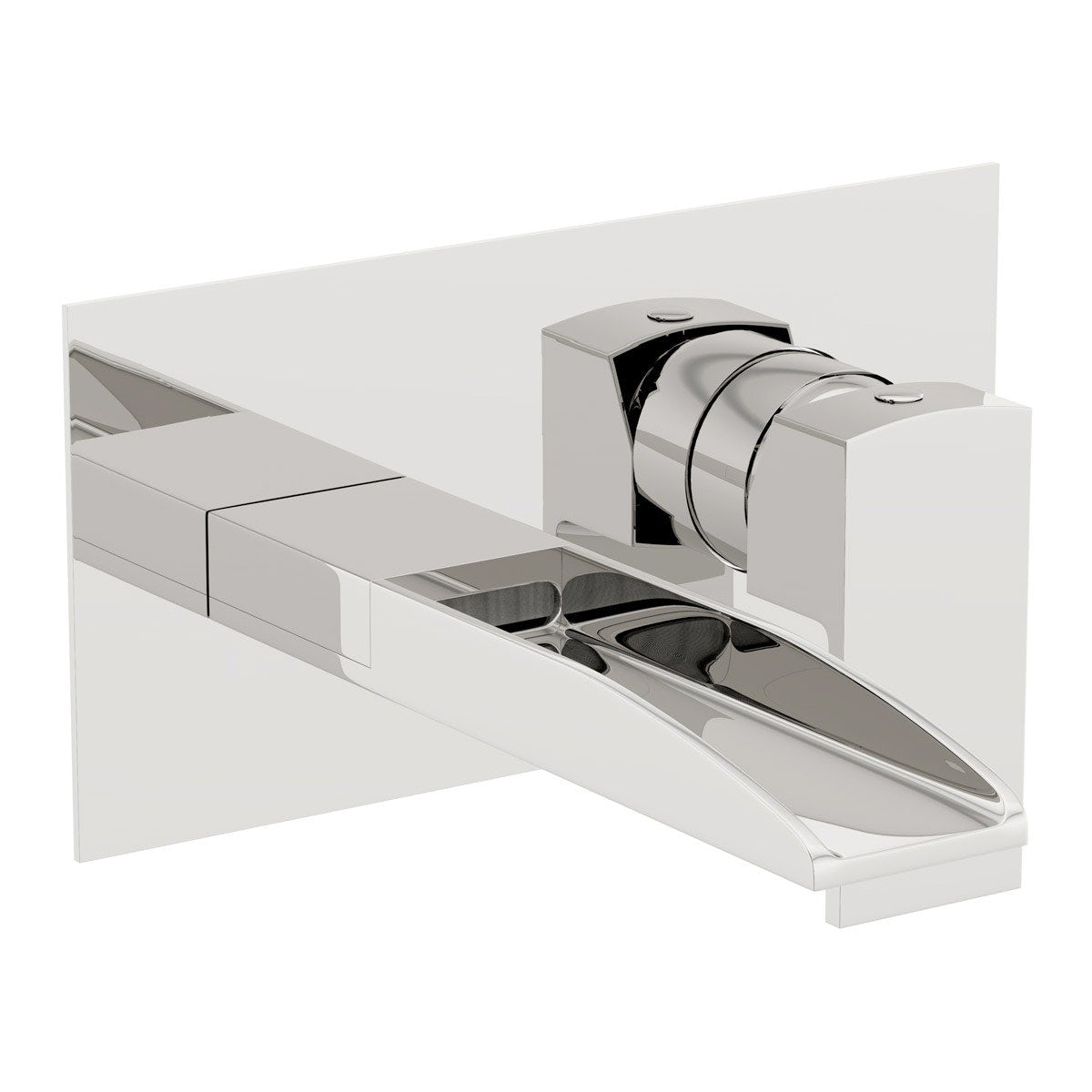 Mode cooper wall mounted basin and bath mixer tap pack for Waterfall delivery