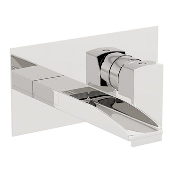 Mode Erskine wall mounted waterfall basin mixer tap
