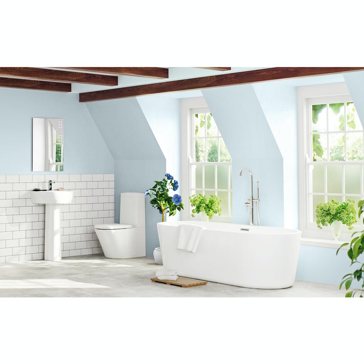 Mode Tate Luxury Bathroom Suite With Freestanding Bath 1500 X 700