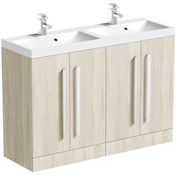 Arden oak double basin unit 1200mm