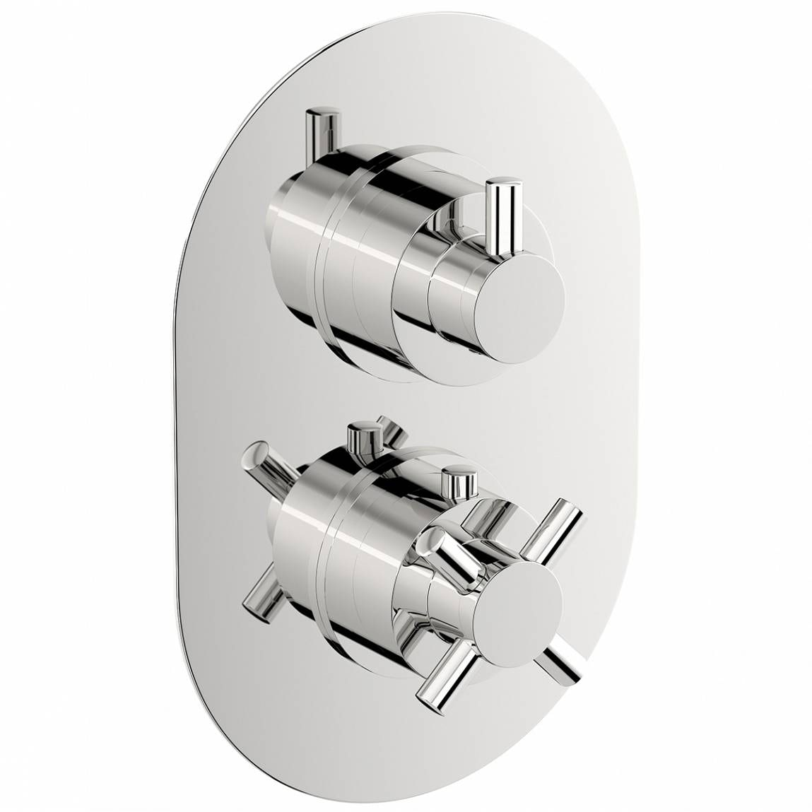 Mode Alexa oval twin thermostatic shower valve with diverter