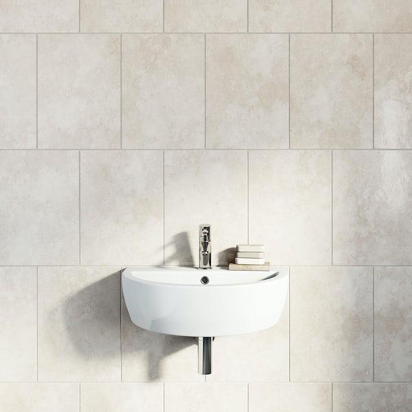 British Ceramic Tile Earth stone beige gloss tile 300mm x 416mm