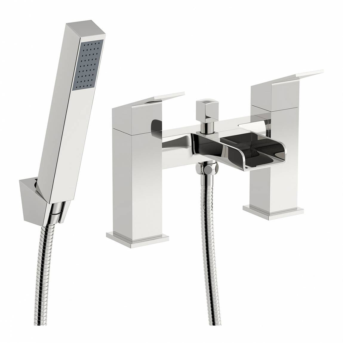 Orchard Wye waterfall bath shower mixer tap