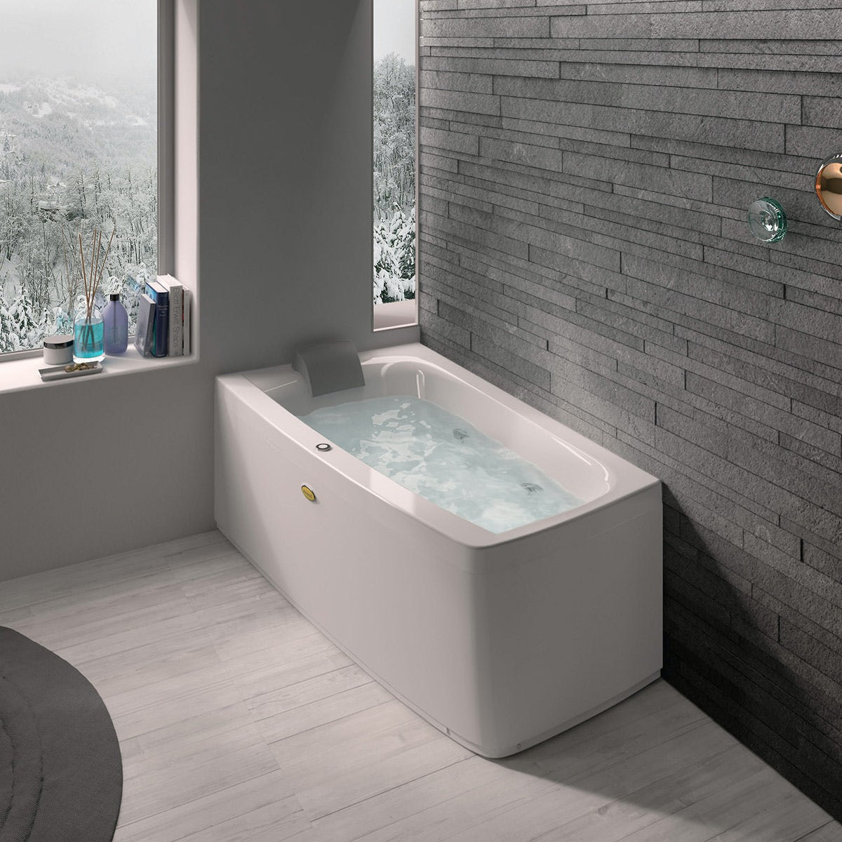 Jacuzzi Essentials left handed compact offset corner whirlpool bath