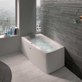Jacuzzi Essentials left handed compact offset corner whirlpool bath
