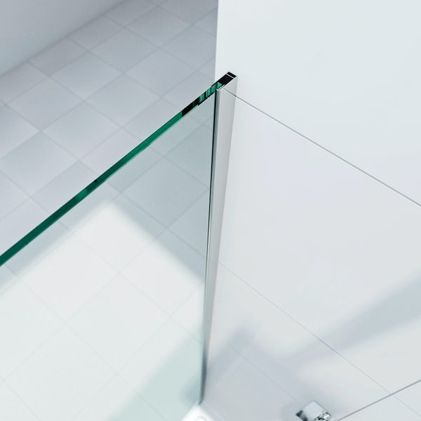 8mm Wet Room Glass Panel 700