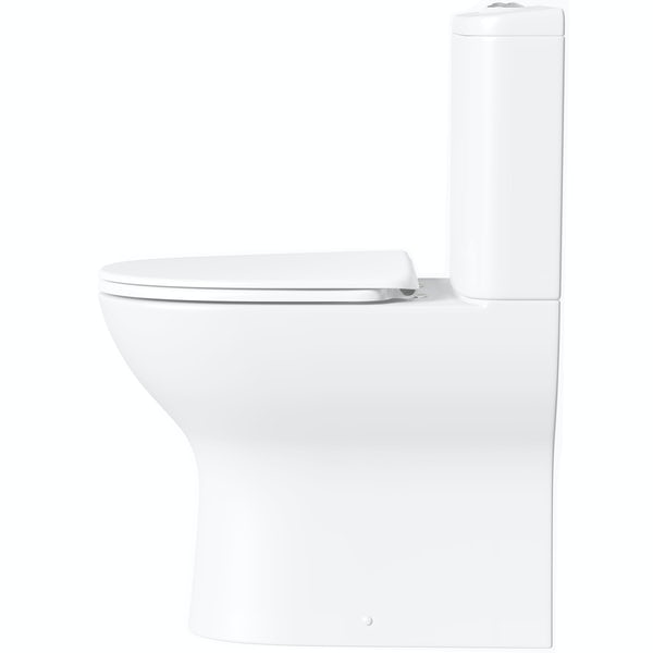 Mode Heath close coupled toilet with soft close toilet seat with pan connector