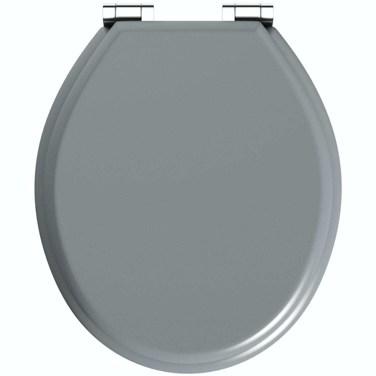 The Bath Co Satin Grey Soft Close Wooden Toilet Seat