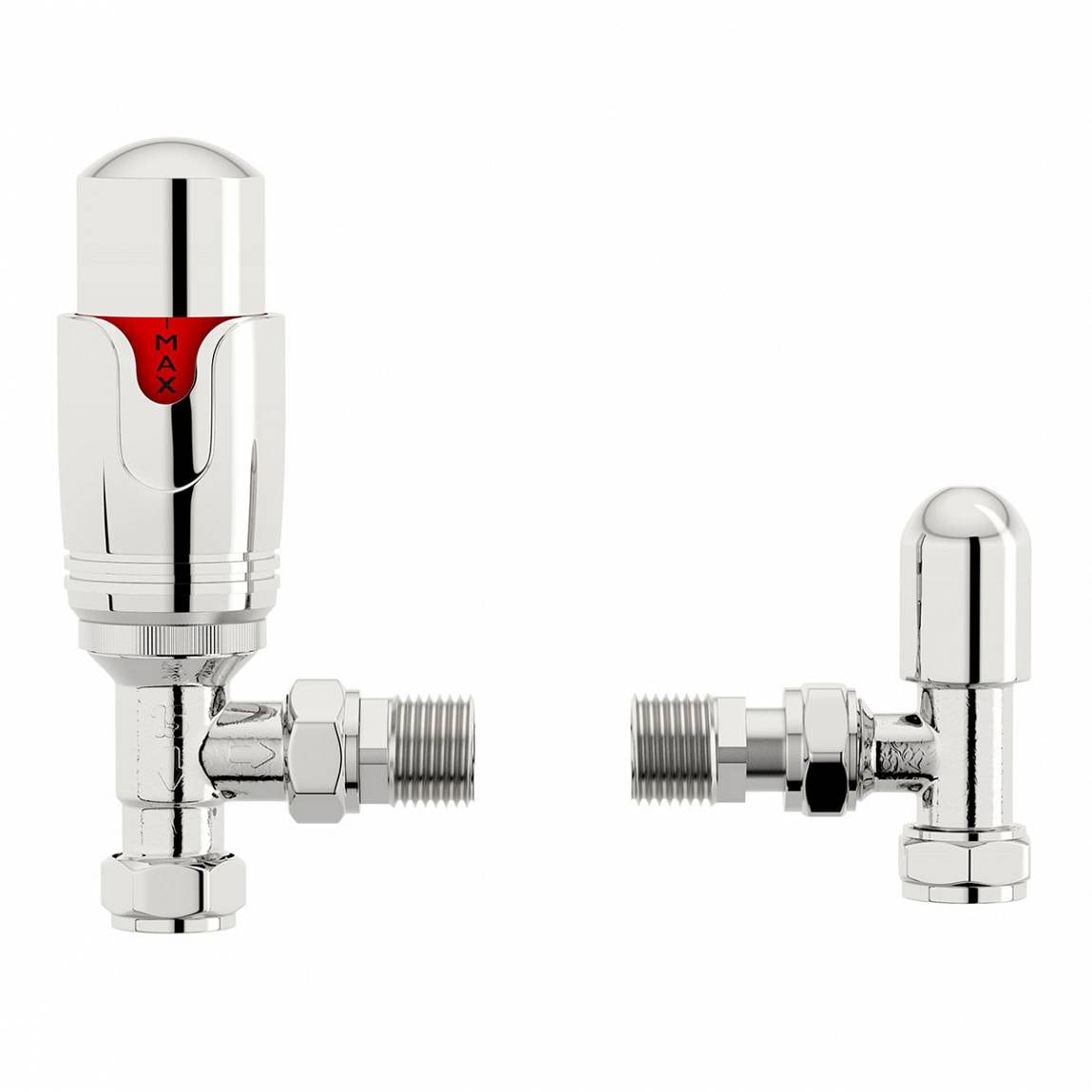 Orchard Thermostatic chrome angled radiator valves