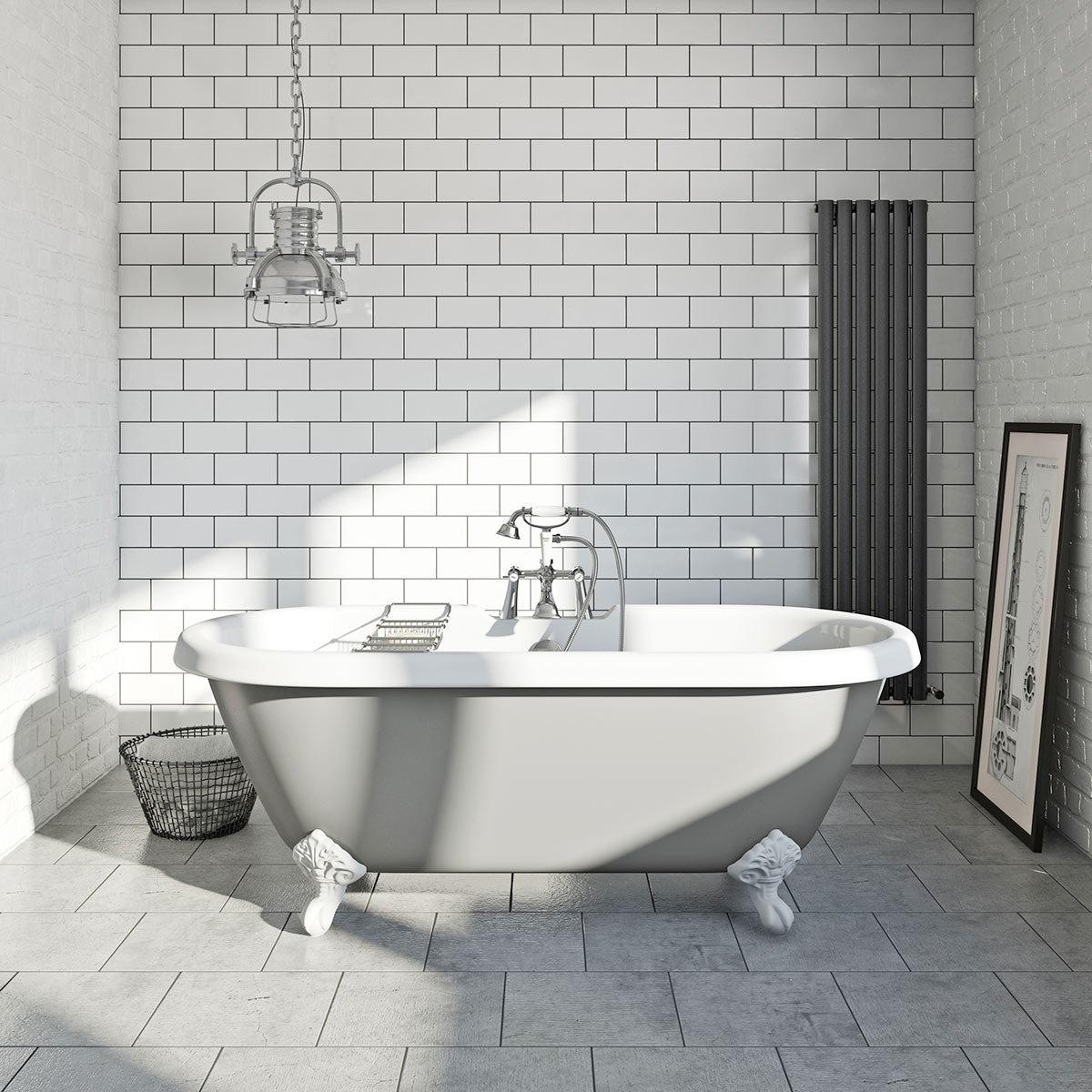 Dove grey coloured bath for Coloured free standing bath