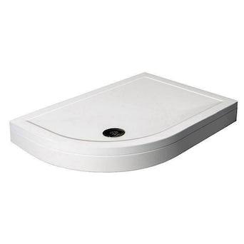 Offset Quadrant Stone Shower Tray & Riser Kit 1000 x 800 LH