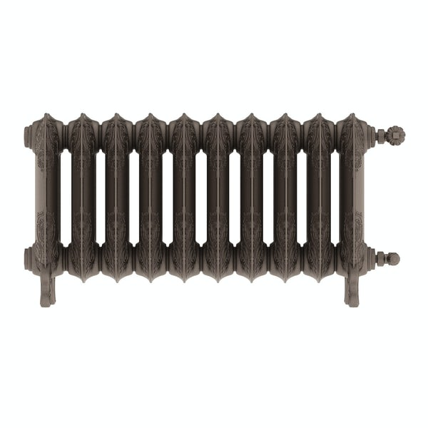 Oxford russet freestanding cast iron radiator 470 x 852