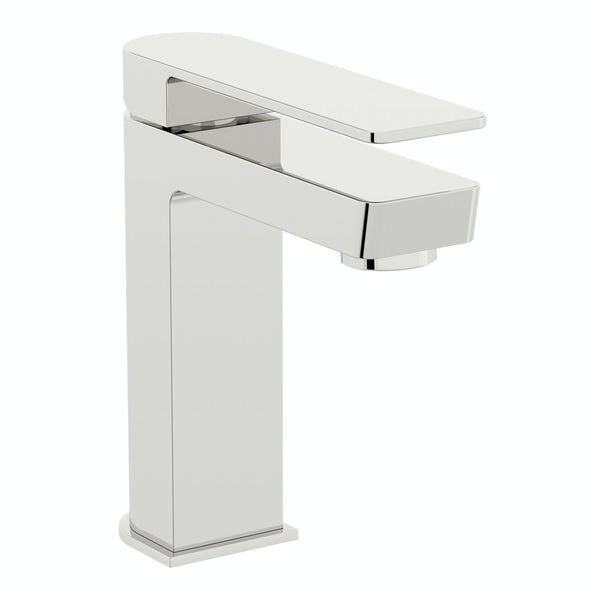 Mode Ellis complete left hand shower bath suite with contemporary white floor drawer unit
