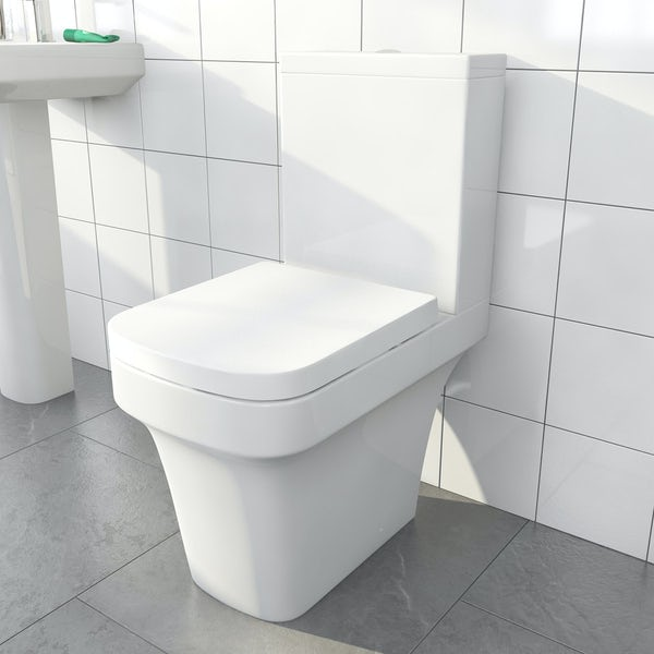 Carter close coupled toilet inc soft close seat
