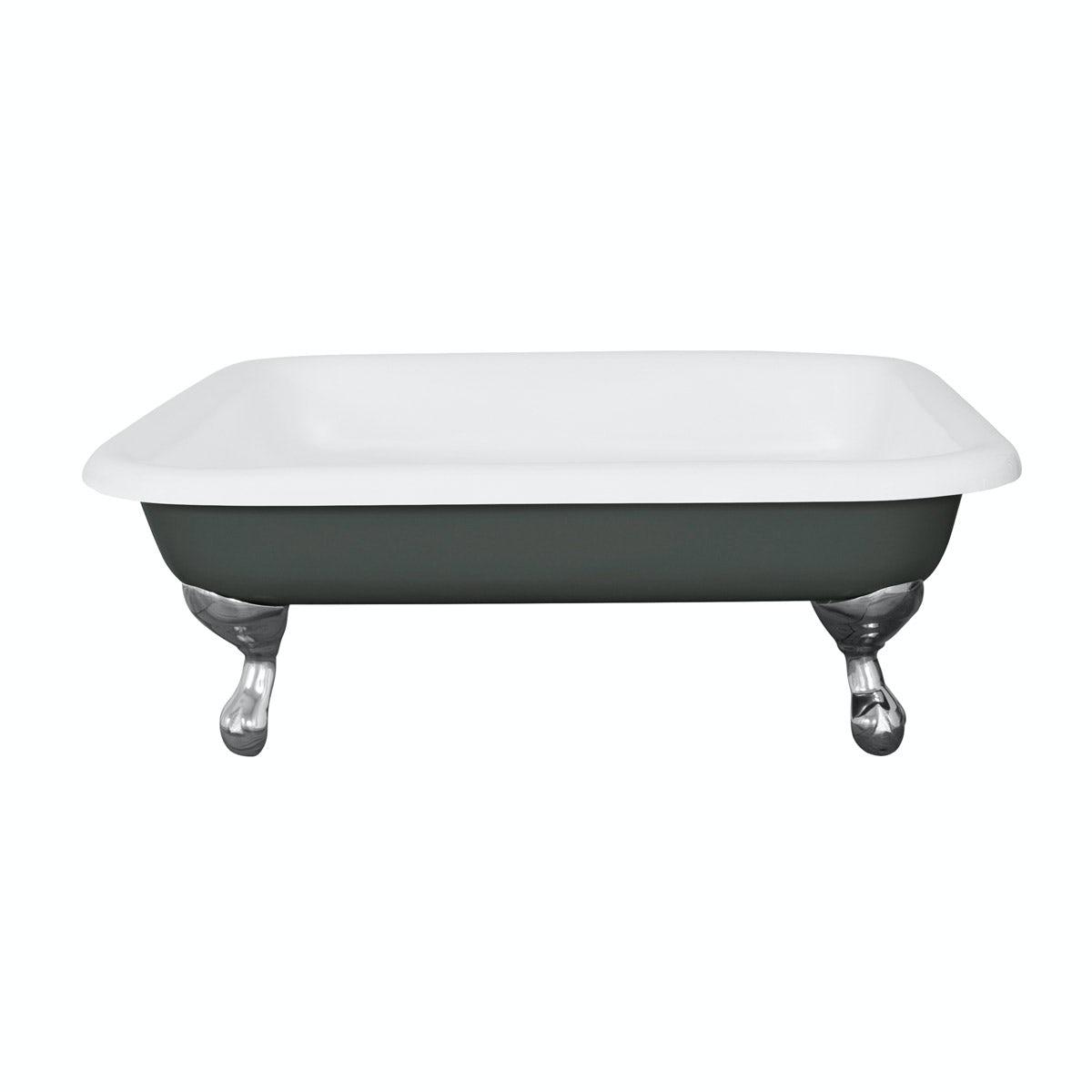 The Bath Co. Lewes smoke grey cast iron shower tray