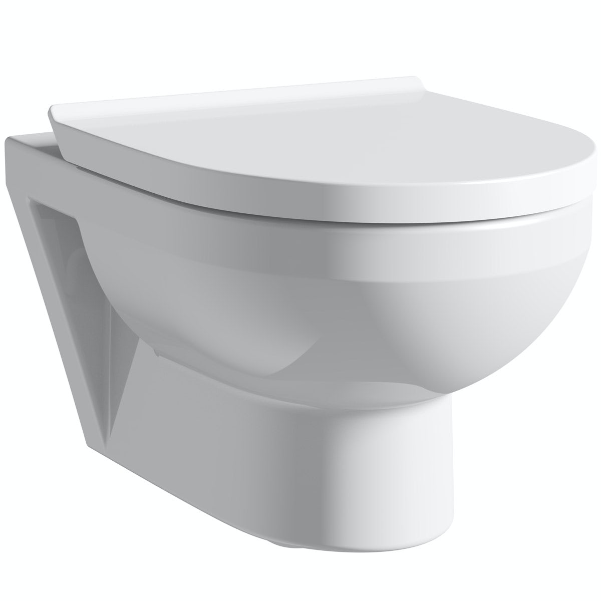 Duravit Durastyle Basic rimless wall hung toilet with soft close toilet seat
