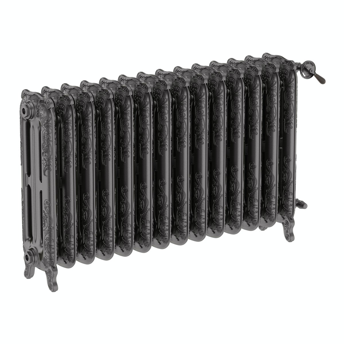 Oxford raw metal freestanding cast iron radiator 710 x 1180