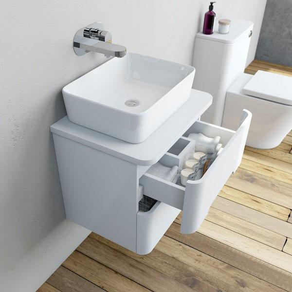 Mode Ellis essen wall hung vanity drawer unit and countertop 600mm
