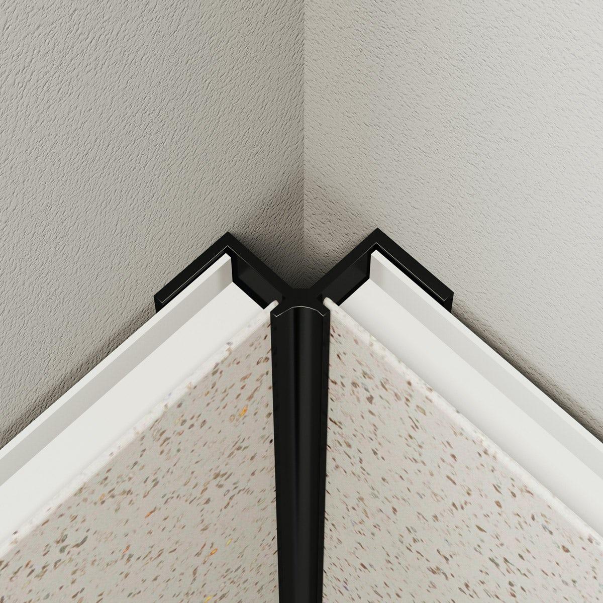Multipanel Economy type V black internal corner profile