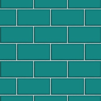 Fine Decor ceramica subway tile teal blue wallpaper