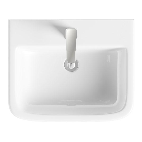 Carter semi pedestal basin 550mm