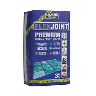 Ultra Tile FlexJoint Premium wall and floor grout cream 3kg