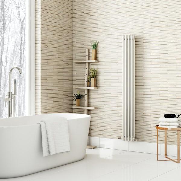 Fine Decor ceramica slate tile cream wallpaper