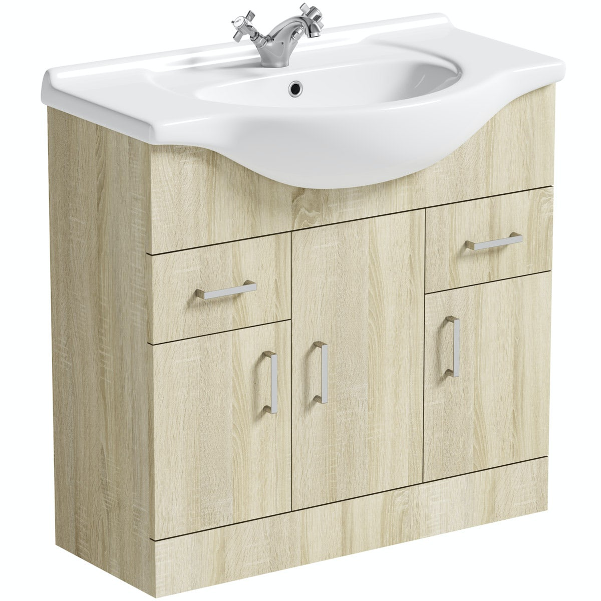 Orchard Eden oak vanity unit and basin 850mm