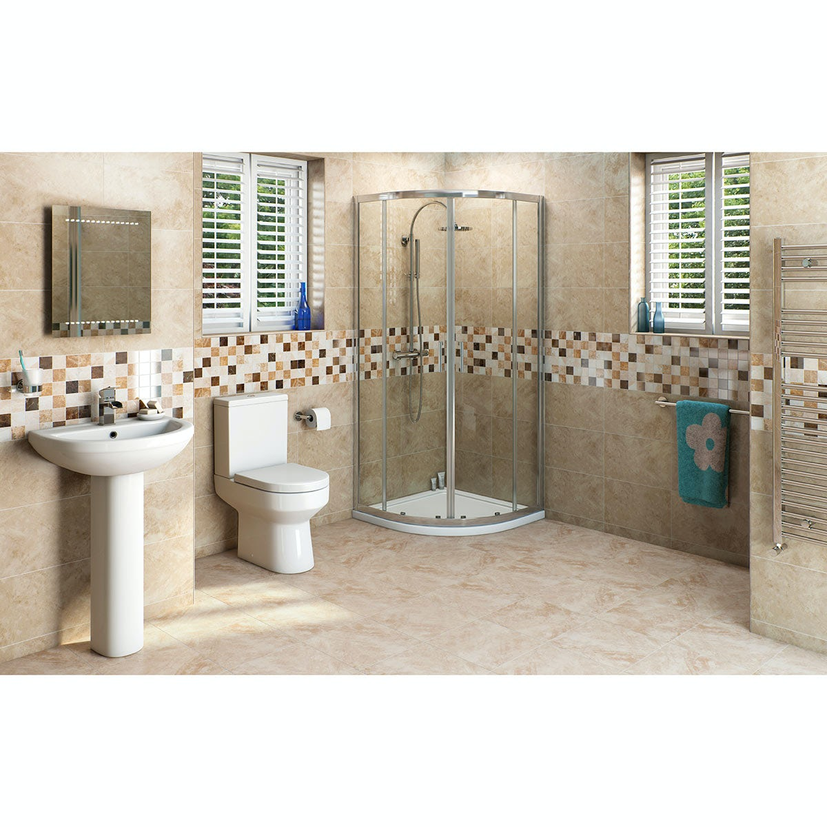 OrchardWharfeensuite suite with quadrant enclosure and tray