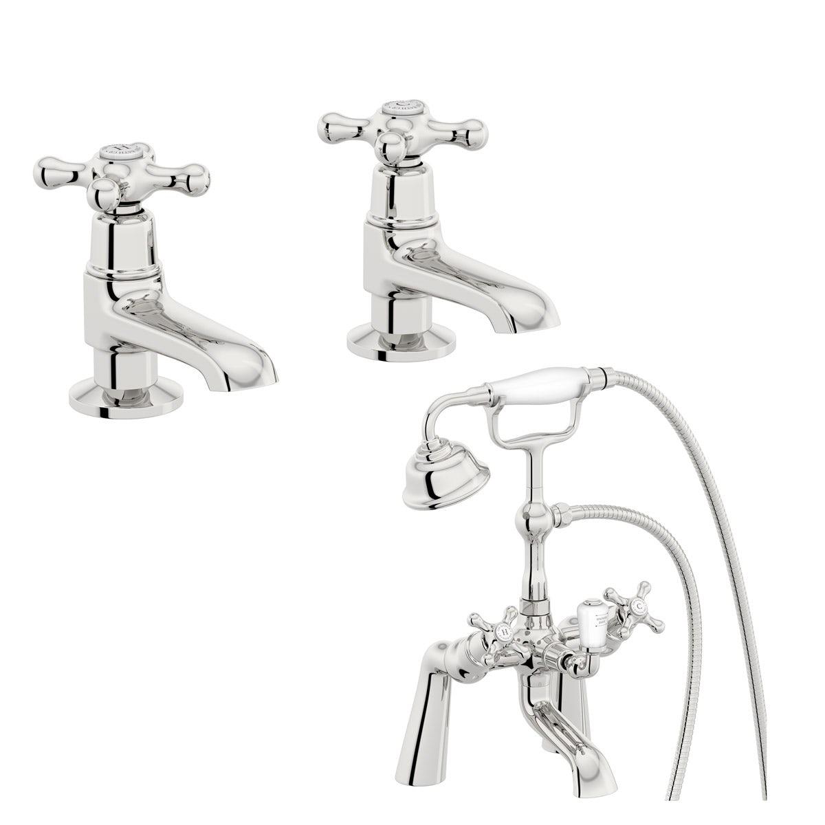 The Bath Co. Camberley basin pillar and bath shower mixer tap pack