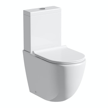Mode Harrison rimless close coupled toilet inc slimline soft close seat with pan connector