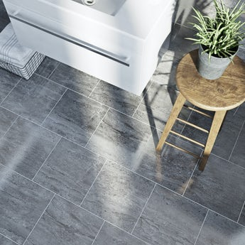 Lux grey gloss tile 331mm x 331mm