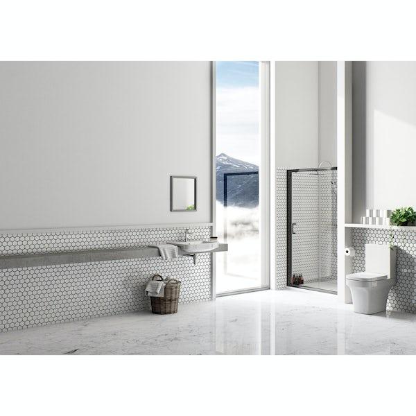 Mode premium black 6mm sliding shower door 1200mm