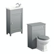 The Bath Co. Camberley grey cloakroom furniture suite