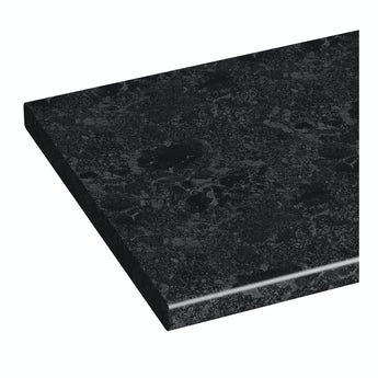 Florence midnight black vanity unit countertop 337 x 1800