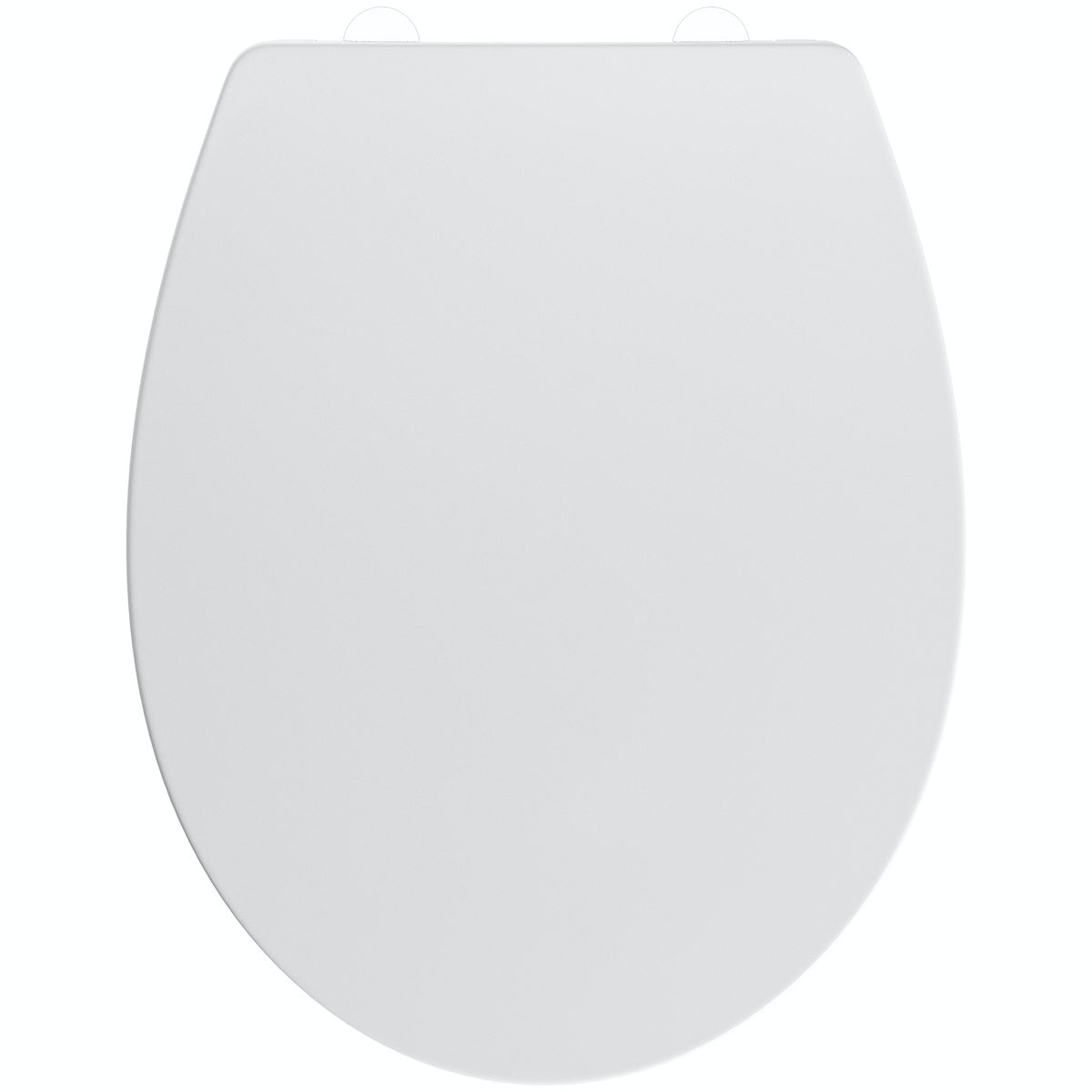Slim universal thermoset toilet seat with stainless steel hinge