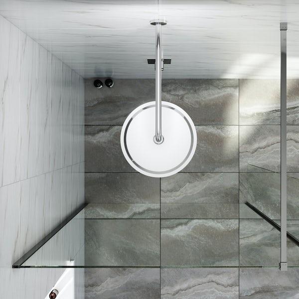 Mode Renzo round slim stainless steel shower head 300mm