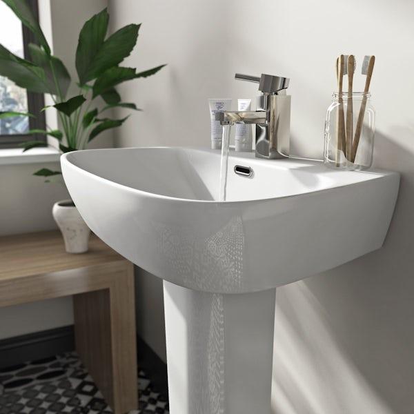 Mode Foster 1 tap hole full pedestal basin 600mm