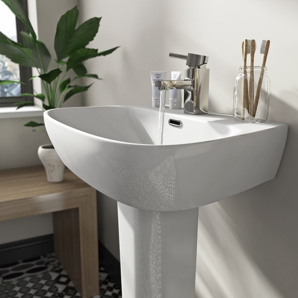 Mode Foster 1 tap hole full pedestal basin 600mm