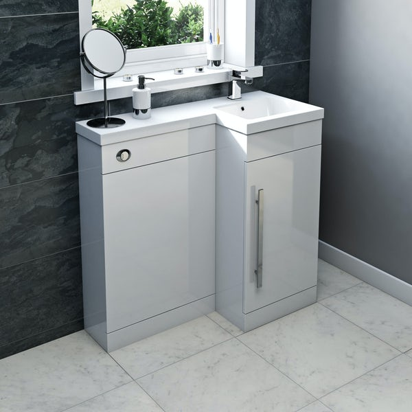 MySpace White Combination Unit RH including Concealed Cistern